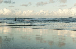 Pescatore nel mare Fotografia Stock