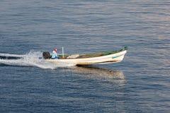 Pescatore nell'Oman Fotografia Stock