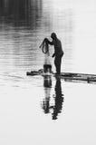 Pescatore nero Fotografia Stock Libera da Diritti