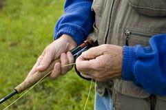 Pescatore, particolare fotografia stock