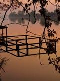 Pescatore sul Danubio Fotografia Stock Libera da Diritti