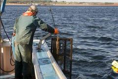 Pescatore sul lavoro fotografia stock libera da diritti