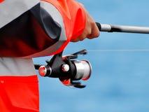 Pescatore sulla costa della Norvegia Fotografie Stock Libere da Diritti