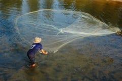 Pescatore tailandese Fotografia Stock Libera da Diritti