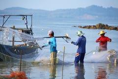 Pescatore tailandese tre Immagine Stock