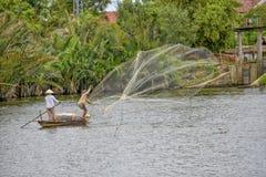 Pescatore vietnamita in Hoi An Fotografia Stock