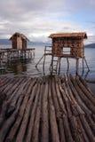 Pescatore-villaggio Fotografia Stock Libera da Diritti