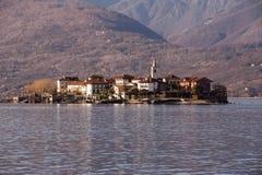 pescatori λιμνών της Ιταλίας isola dei maggiore Στοκ Εικόνες