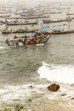 Pescatori africani nel Ghana Fotografie Stock