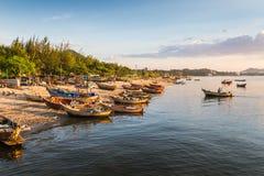 Pescatori asiatici Immagini Stock