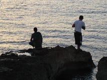Pescatori a Avana 1 Immagini Stock Libere da Diritti