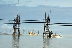 Pescatori in Bako immagine stock