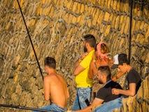 Pescatori a Beirut, Libano fotografie stock libere da diritti