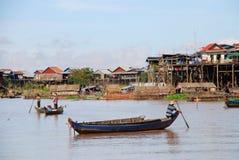 Pescatori cambogiani Immagine Stock