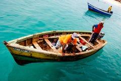 Pescatori in Capo Verde Fotografia Stock