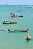 Pescatori che vivono nel mare. Immagini Stock