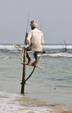 Pescatori del trampolo dello Sri Lanka Fotografia Stock