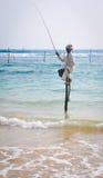Pescatori del trampolo dello Sri Lanka Fotografie Stock Libere da Diritti