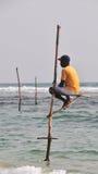 Pescatori del trampolo dello Sri Lanka Immagini Stock Libere da Diritti