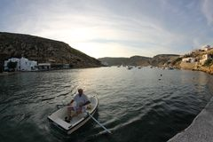 Pescatori della barca fotografia stock libera da diritti