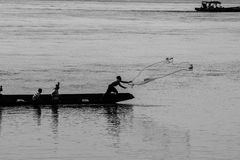 Pescatori e metodi di pesca Fotografia Stock