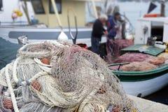Pescatori e reti da pesca Stock Photography