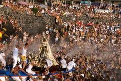 Pescatori e Virgen del Carmen 2 immagine stock