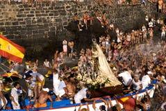 Pescatori e Virgen del Carmen 3 immagine stock