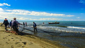 Pescatori Georgia Black Sea Fotografia Stock Libera da Diritti