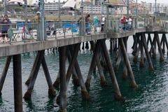 Pescatori a Los Angeles Immagini Stock