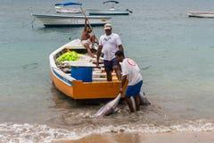 Pescatori in Mauritius Immagini Stock Libere da Diritti