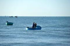 Pescatori in Mui Ne vietnam Immagini Stock