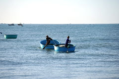 Pescatori in Mui Ne vietnam Fotografie Stock