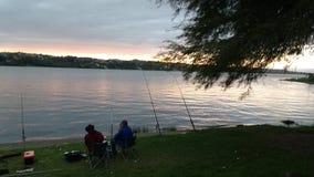 Pescatori nel lago Fotografia Stock Libera da Diritti
