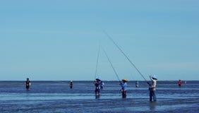Pescatori in Sanur fotografia stock libera da diritti