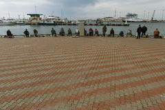 Pescatori in Soci Fotografia Stock