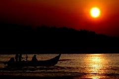 Pescatori sul lavoro Fotografia Stock Libera da Diritti