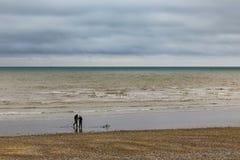 Pescatori sulla spiaggia immagine stock libera da diritti