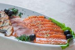 Pesce affettato Immagini Stock Libere da Diritti