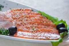Pesce affettato Fotografia Stock
