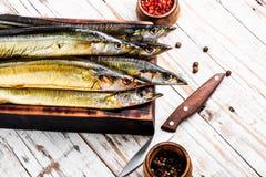 Pesce affumicato appetitoso fotografia stock