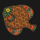 Pesce africano di motivi Immagine Stock Libera da Diritti