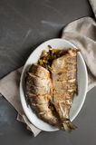 Pesce al forno Immagini Stock