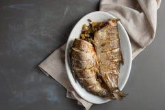 Pesce al forno Fotografia Stock