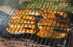 Pesce arrostito Fotografia Stock