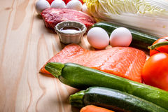 Pesce, carne e prodotti Fotografia Stock