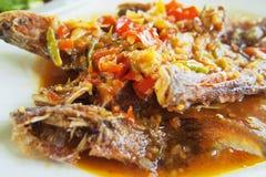 Pesce Chili Sauce Fotografia Stock Libera da Diritti