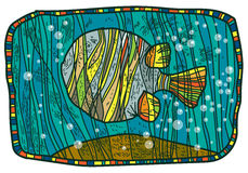 Pesce colorato nell'acqua Immagine Stock