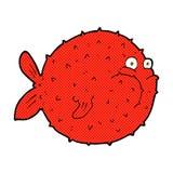 pesce comico della soffiatore del fumetto Fotografie Stock Libere da Diritti