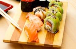 Pesce crudo dei sushi Fotografie Stock